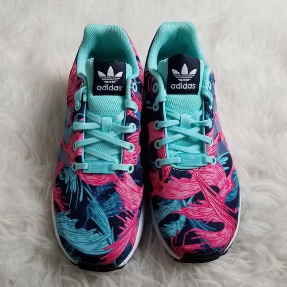 e37542114 Adidas ZX Flux Torsion Athletic Shoes 5.5 Pink